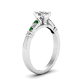 cushion-cut-diamond-duet-bar-side-stone-ring-with-green-emerald-in-14K-white-gold-FDENS363CURGEMGRANGLE2-NL-WG