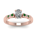 cushion-cut-diamond-duet-bar-side-stone-ring-with-green-emerald-in-14K-rose-gold-FDENS363CURGEMGRANGLE5-NL-RG