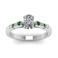 cushion-cut-diamond-duet-bar-side-stone-ring-with-green-emerald-in-14K-white-gold-FDENS363CURGEMGRANGLE5-NL-WG