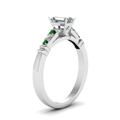 emerald-cut-diamond-duet-bar-side-stone-ring-with-green-emerald-in-18K-white-gold-FDENS363EMRGEMGRANGLE2-NL-WG