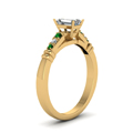 emerald-cut-diamond-duet-bar-side-stone-ring-with-green-emerald-in-18K-yellow-gold-FDENS363EMRGEMGRANGLE2-NL-YG
