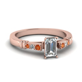 emerald-cut-diamond-duet-bar-side-stone-ring-with-orange-sapphire-in-14K-rose-gold-FDENS363EMRGSAOR-NL-RG