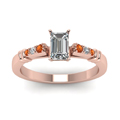 emerald-cut-diamond-duet-bar-side-stone-ring-with-orange-sapphire-in-14K-rose-gold-FDENS363EMRGSAORANGLE5-NL-RG