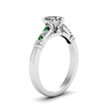 heart-shaped-diamond-duet-bar-side-stone-ring-with-green-emerald-in-14K-white-gold-FDENS363HTRGEMGRANGLE2-NL-WG