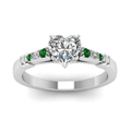 heart-shaped-diamond-duet-bar-side-stone-ring-with-green-emerald-in-14K-white-gold-FDENS363HTRGEMGRANGLE5-NL-WG