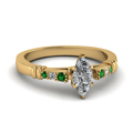 marquise-shaped-diamond-duet-bar-side-stone-ring-with-green-emerald-in-18K-yellow-gold-FDENS363MQRGEMGR-NL-YG