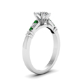 marquise-shaped-diamond-duet-bar-side-stone-ring-with-green-emerald-in-18K-white-gold-FDENS363MQRGEMGRANGLE2-NL-WG