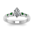 marquise-shaped-diamond-duet-bar-side-stone-ring-with-green-emerald-in-18K-white-gold-FDENS363MQRGEMGRANGLE5-NL-WG