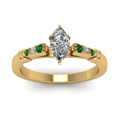 marquise-shaped-diamond-duet-bar-side-stone-ring-with-green-emerald-in-18K-yellow-gold-FDENS363MQRGEMGRANGLE5-NL-YG