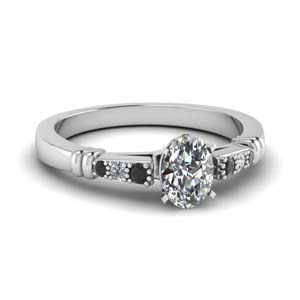 Platinum Bar Set Ring