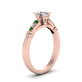 oval-shaped-diamond-duet-bar-side-stone-ring-with-green-emerald-in-14K-rose-gold-FDENS363OVRGEMGRANGLE2-NL-RG