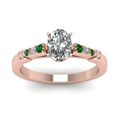 oval-shaped-diamond-duet-bar-side-stone-ring-with-green-emerald-in-14K-rose-gold-FDENS363OVRGEMGRANGLE5-NL-RG