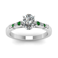 oval-shaped-diamond-duet-bar-side-stone-ring-with-green-emerald-in-18K-white-gold-FDENS363OVRGEMGRANGLE5-NL-WG