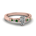 pear-shaped-diamond-duet-bar-side-stone-ring-with-green-emerald-in-14K-rose-gold-FDENS363PERGEMGR-NL-RG