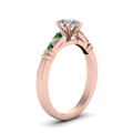 pear-shaped-diamond-duet-bar-side-stone-ring-with-green-emerald-in-18K-rose-gold-FDENS363PERGEMGRANGLE2-NL-RG