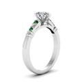 pear-shaped-diamond-duet-bar-side-stone-ring-with-green-emerald-in-14K-white-gold-FDENS363PERGEMGRANGLE2-NL-WG