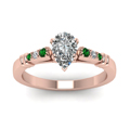 pear-shaped-diamond-duet-bar-side-stone-ring-with-green-emerald-in-14K-rose-gold-FDENS363PERGEMGRANGLE5-NL-RG