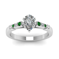 pear-shaped-diamond-duet-bar-side-stone-ring-with-green-emerald-in-14K-white-gold-FDENS363PERGEMGRANGLE5-NL-WG