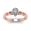 pear-shaped-diamond-duet-bar-side-stone-ring-with-orange-sapphire-in-14K-rose-gold-FDENS363PERGSAORANGLE5-NL-RG