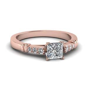 Rose Gold Princess Cut Ring