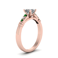 princess-cut-diamond-duet-bar-side-stone-ring-with-green-emerald-in-18K-rose-gold-FDENS363PRRGEMGRANGLE2-NL-RG