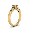 princess-cut-diamond-duet-bar-side-stone-ring-with-green-emerald-in-14K-yellow-gold-FDENS363PRRGEMGRANGLE2-NL-YG