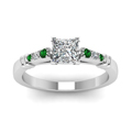 princess-cut-diamond-duet-bar-side-stone-ring-with-green-emerald-in-950-Platinum-FDENS363PRRGEMGRANGLE5-NL-WG