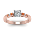 princess-cut-diamond-duet-bar-side-stone-ring-with-orange-sapphire-in-14K-rose-gold-FDENS363PRRGSAORANGLE5-NL-RG