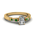 radiant-cut-diamond-duet-bar-side-stone-ring-with-green-emerald-in-18K-yellow-gold-FDENS363RARGEMGR-NL-YG