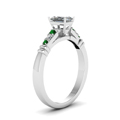 radiant-cut-diamond-duet-bar-side-stone-ring-with-green-emerald-in-14K-white-gold-FDENS363RARGEMGRANGLE2-NL-WG