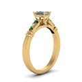 radiant-cut-diamond-duet-bar-side-stone-ring-with-green-emerald-in-18K-yellow-gold-FDENS363RARGEMGRANGLE2-NL-YG