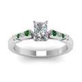 radiant-cut-diamond-duet-bar-side-stone-ring-with-green-emerald-in-14K-white-gold-FDENS363RARGEMGRANGLE5-NL-WG
