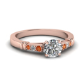 round-cut-diamond-duet-bar-side-stone-ring-with-orange-sapphire-in-14K-rose-gold-FDENS363RORGSAOR-NL-RG
