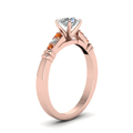 round-cut-diamond-duet-bar-side-stone-ring-with-orange-sapphire-in-14K-rose-gold-FDENS363RORGSAORANGLE2-NL-RG
