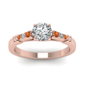 round-cut-diamond-duet-bar-side-stone-ring-with-orange-sapphire-in-14K-rose-gold-FDENS363RORGSAORANGLE5-NL-RG