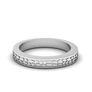 Antique White Gold Band