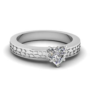 Thick Heart Diamond Ring