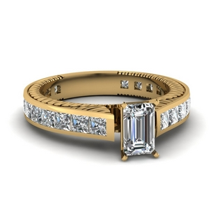 2.50 Ct. Engraved Channel Set Ring