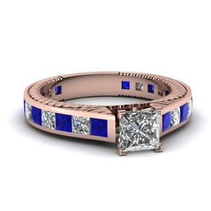 Princess Cut Engraved Ring