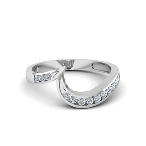 Curved Channel Diamond Band