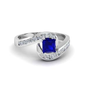 Square Sapphire Channel Set Ring