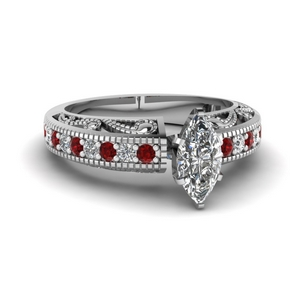 Ruby Antique Diamond Ring
