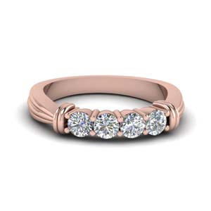 4 Round Diamond Band