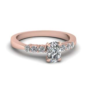 Tapered Cushion Diamond Ring