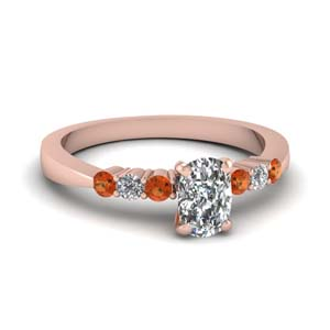 Tapered 7 Stone Engagement Ring
