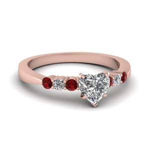 Tapered 7 Stone Ruby Ring