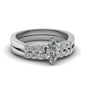 Tapered Diamond Wedding Ring Set