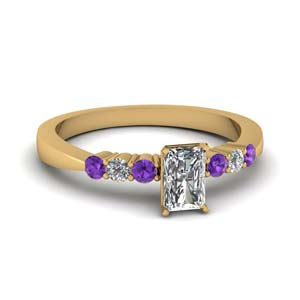 Purple Topaz 7 Stone Ring