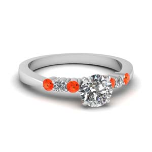 Tapered Orange Topaz Ring