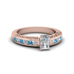 Rose Gold Topaz Ring